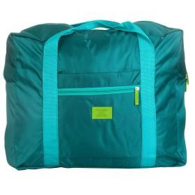 MinniLove 折り畳み式トラベルバッグ 機内 荷物に付けて使用可能 超大容量 折り畳み可能 防水 手提げ付き スーツケースの上に乗せられる 軽量 (グリーン)