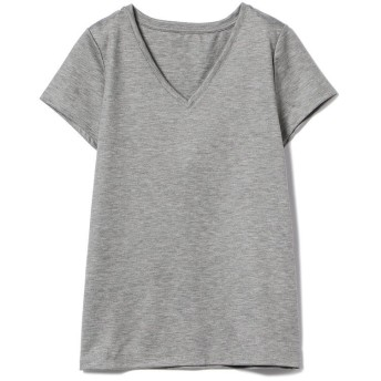 ビームス ウィメン Demi Luxe BEAMS / リヨセル ベーシックVネックTシャツ レディース TOPGREY 36 【BEAMS WOMEN】