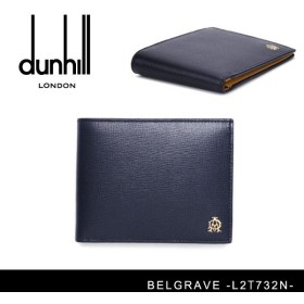 『DUNHILL-ダンヒル-』BELGRAVE 4CC & COIN PURSE [メンズ 二つ折り財布 ウォレット]