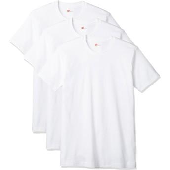 [ヘインズ] Tシャツ 3P 赤パック クルーネック 丸首 白 3枚組 綿100% 柔らかい肌ざわり メンズ HM2135G ホワイト 日本 XL (日本サイズXL相当)