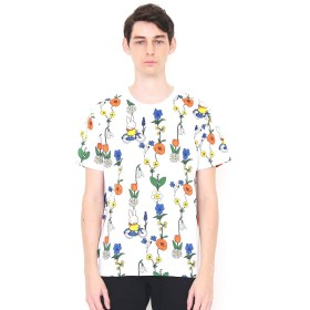 (グラニフ) graniph コラボレーション Tシャツ お花とミッフィー (ミッフィー) (ホワイト) メンズ レディース M (g01) (g14) #おそろいコーデ