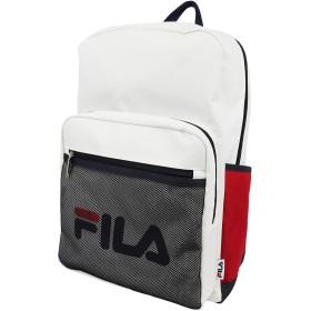 FILA(フィラ) デイパック リュック メッシュポケット 撥水 軽量 大容量 部活 普段使い (トリコロール)