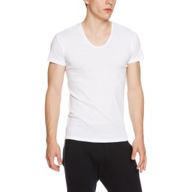 [グンゼ] インナーシャツ YG COTTON 100% シリーズ UネックTシャツ YV0016N メンズ ホワイト 日本L (日本サイズL相当)