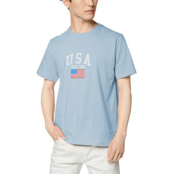 ウィゴー(メンズ)(WEGO) USAロゴTシャツ【サックス/S】