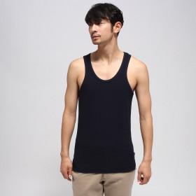 BASE CONTROL(ベースステーション:メンズ)/【WEB限定】裾同色スター刺繍 ミニワッフル タンクトップ