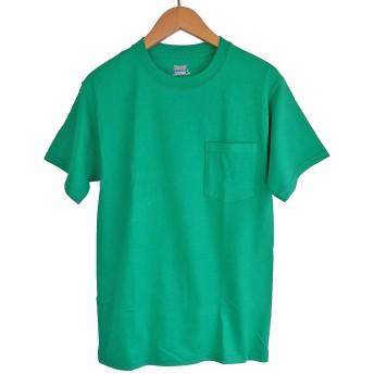 (ヘインズ) HANES BEEFY TEE POCKET ヘインズ メンズ ポケットTシャツ 5190p ビーフィー [並行輸入品] (XL, ケリーグリーン)