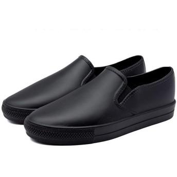 [nicoly] レインシューズ 軽量 レディース スリッポン 雨靴 (24cm(L))
