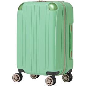 [アウトレット品]【レジェンドウォーカー】LEGEND WALKER スーツケース ファスナータイプ ダブルキャスター 鏡面ボディ TSAロック 軽量 Sサイズ W-5122-55 ライトグリーン
