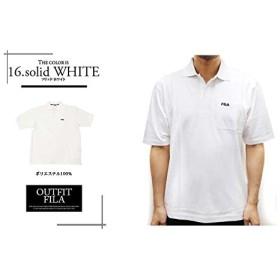 (フィラ)FILA メンズ ポロシャツ 半袖 無地 チェック ボーダー FH7047 XL 16 ソリッド ホワイト