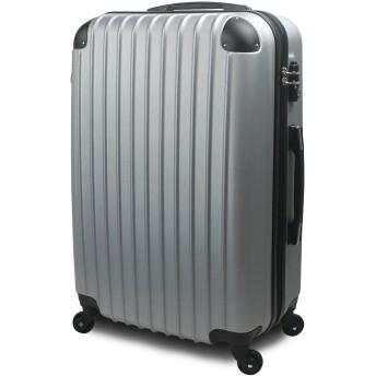 【 アウトレット商品 】 スーツケース 超軽量 3サイズ( 大型 Lサイズ/中型 Mサイズ/小型 Sサイズ) キャリーバッグ TSA搭載 ファスナー (小型 Sサイズ 1~3泊用, シルバー)