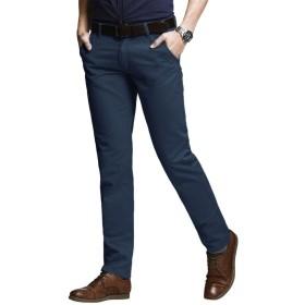 Matchstick(マッチスティック)チノパン ストレッチ スリム スキニー カラーパンツ 大きいサイズ ズボン メンズ (8060 ピーコックブルー, XL/34)