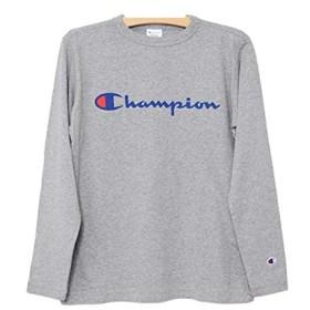 [チャンピオン] C3-J426 BASIC 長袖 ロゴプリント Tシャツ メンズ ベーシック ロンT L 070:オックスフォードグレー