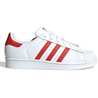 [アディダス] SUPERSTAR W RUNNING WHITE/ACTIVE RED/CORE BLACK 28.0cm