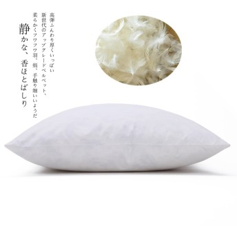 100% DUCK DOWN PILLOW COTTON PILLOW 100% REAL FEATHER FILLING SOFT QUIET BEDDING COMFORTABLE NECK