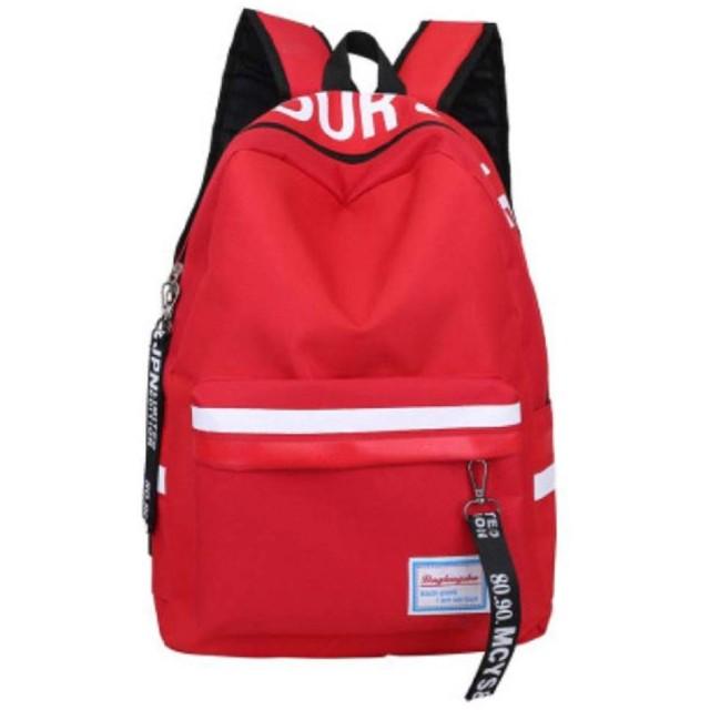 [ブルーリフレイン] リュック バックパック リュックサック 女子 高校生 通勤 通学 大容量 軽量 デイパッグ アウトドア ストラップ付 レディース 人気 スクール バッグ pc A4 タブレット 収納 バック カジュアル 可愛い 女の子 旅行 お出かけ 使いやすい 中学生 小学生 あか アカ 赤色 赤 (レッド 2)
