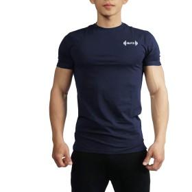 (ビベター)Bebetter トレーニングウェア メンズ Tシャツ 半袖 ストレッチ 細身 フィットネス 吸汗速乾 ジムウェア ボディビル スポーツウェア L