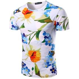 Wiboyjp メンズ 3D リアル プリント tシャツ 夏 ストリート スウェットtシャツ ヒップホップ おもしろ サマー おしゃれ トレント 半袖 t-shirt サマー デザイン  ユニセックス