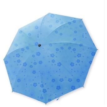 傘 レディース 折りたたみ 花柄 浮き上がる 軽量 直径 105cm 丈夫 コンパクト おしゃれ ブランド おりたたみ 大きいサイズ 青 色 ブルー カラー ブランド お洒落 雨具 シンプル おおきいサイズ スリム 晴雨兼用 耐風 手開き 女の子 女性 uv カット 青 色 ブルー カラー 袋 カバー 付き (01 : ブルー)