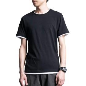 Superora(スーパーオラ) Tシャツ メンズ 半袖 綿 無地 カジュアル クルーネック ゆったり 快適 薄手 大きい サイズ