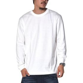 [UnitedAthle(ユナイテッドアスレ)] ロングスリーブTシャツ メンズ 無地 生地厚(5.6オンス) 白 5011-01-001 ホワイト XL