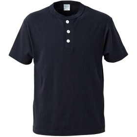 [エムエイチエー] M.H.A.style Tシャツ 半袖 メンズ (ヘンリーネック) カットソー 無地 シンプル 5004 10018 C.ネイビー