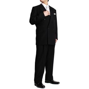 メンズ礼服 OX FORD フォーマルダブルスーツ ブラックフォーマル 大きいサイズ 3L