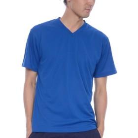 ティーシャツドットエスティー Tシャツ ドライ 半袖 無地 Vネック UVカット4.4oz メンズ ロイヤルブルー M