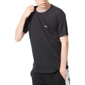 [フィラ] FILA ポケット付きワンポイント刺繍半袖Tシャツ fh7491 BLACK M