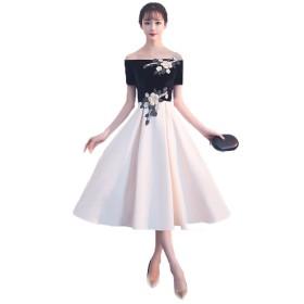 hanamaya シンプル 上品 ミモレ丈 ひざ下 チューブトップ 可愛い ドレス ワンピース 20代 30代 40代 50代 S~2XL (XL)