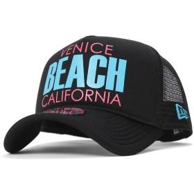 [ニューエラ] 940キャップ スナップバック エーフレームトラッカー ベニスビーチ 11557291 ブラックメッシュ ブルー ピンク GS ブラック
