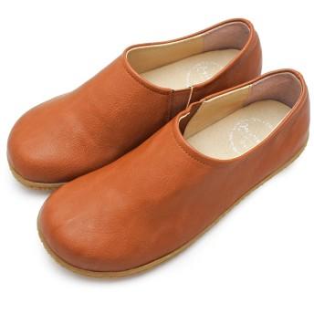 [ジョイウォーカー プラス] JoyWalker Plus CA201 BLACKSOLE BEIGESOLE ぺたんこ靴 レディース コンフォート スリッポン 24.0cm CAMEL