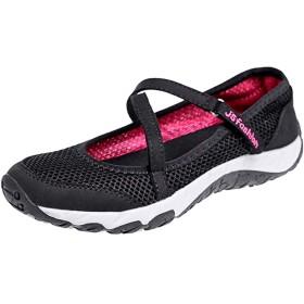 [Tisomen] ナースサンダル 介護靴 ナースシューズ ウオーキングシューズ 看護師 レディーススニーカー 安全靴お母さん 婦人靴ママシューズ 上履き 普段履き ブラック 24.0cm 黒38