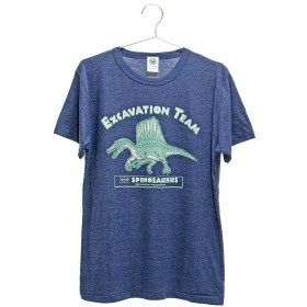 (カロラータ) COLORATA ミュージアムデザイン Tシャツ スピノサウルス Mサイズ ネイビー