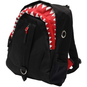 JOKnet リュックサック サメ キッズ ジュニア 子ども 子供 男の子 女の子 鮫 シャーク デイパック バックパック キッズバッグ ブラック F