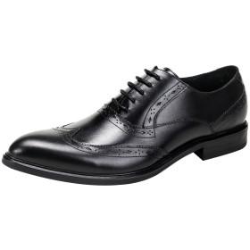 [ONE MAX] ビジネスシューズ メンズ ウォーキング 本革 リーガル フォーマル 通勤 紳士靴 内羽根 ウイングチップ 大きいサイズ ドレスシューズ おしゃれ