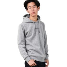 [カンゴール] KANGOL パーカー プルオーバー 裏起毛 別注 メンズ グレー ブラック M サイズ