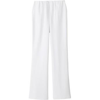 (ララスキル)LALA SKILL プライムフレックス/超ストレッチブーツカットパンツ[制菌/制電/吸汗速乾]医療白衣 F-9018(2L股下75) ホワイト)