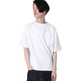 【アールディ.ゴースト】汗染み防止クルーネックビッグTシャツ メンズ ホワイト L サイズ