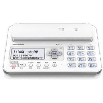 ■Pioneer デジタルコードレス電話機 親機のみ 1.9GHz DECT準拠方式 ホワイト TF-FA70S-W