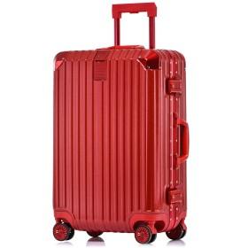 Totell スーツケース 【1年間修理保証】 TSAロック 出張 通勤 アルミフレーム キャリーケース 機内持ち込み TSAロック 丈夫 小型 人気 8輪 キャリーバッグ 旅行用品 ビジネス レッド