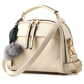 Bloom(ブルーム) レディース バッグ ハンドバッグ ショルダーバッグ 手提げ 2way 斜めがけ 肩がけ 高品質なPUレザー おしゃれ 通勤 通学 handbag-white