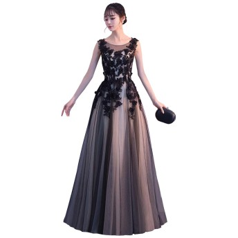 S&T ドレス ロング 結婚式 レディース 演奏会 二次会 発表会 パーティードレス カクテルドレス イブニングドレス カラードレス