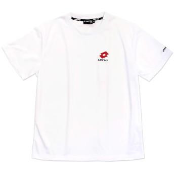 LOTTO ロット メンズ用半袖Tシャツ M L LL ワンポイント 1463 (L, ホワイト)