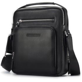 BISONDENIM ビジネスバッグ メンズ ショルダーバッグ 本革 レザー ビジネス 通勤 出張 旅行 ブラック