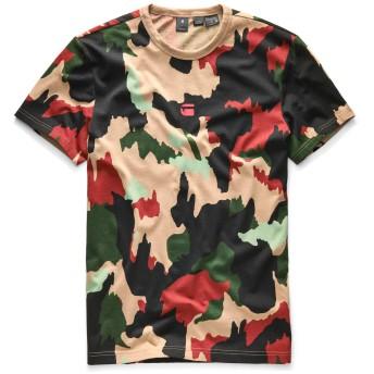 G-Star RAW(ジースターロゥ) X25 丸首 半袖Tシャツ メンズ アルペンフラージュ カモフラージュ柄 Tシャツ XS