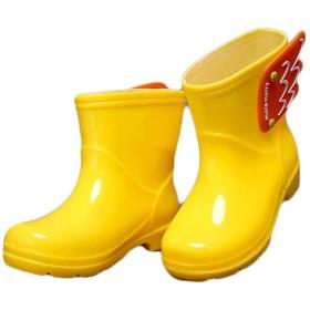 [relive] (フッカツ)レインブーツ キッズ ベビー長靴 オシャレ ショート 可愛い 雨 雪 子供用 女の子 男の子 レインシューズ 翼 通園 通学 アウタドア 梅雨対策 イエロー19