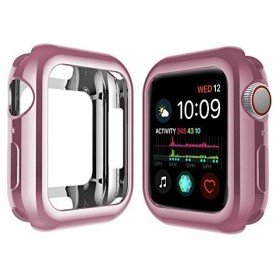 Deyou コンパチブル Apple Watch Series 4 ケース40mm、 44mm メッキ TPU 保護ケース 耐衝撃性 超簿 脱着簡単