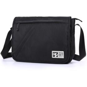 ZZINNA ショルダーバッグ メンズ メッセンジャーバッグ a4 大容量 ナイロン PC 自転車 通勤通学 斜めがけ 肩掛け バッグ