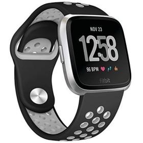 Yometome Fitbit Versa バンド 柔らかいシリコン 交換用ベルト ストラップ ブレスレット スポーツ仕様 スマートウォッチ用バンド
