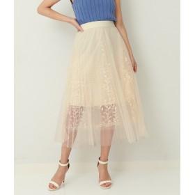 ANAP(アナップ)/リーフ刺繍デザインチュールスカート
